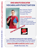 Vocabulary/Punctuation One Minute Lessons