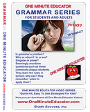 Grammar Series - One Minute Lessons