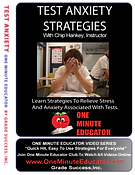 Test Anxiety Strategies in One Minute Lessons