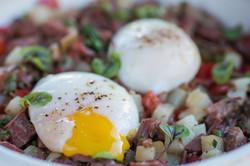 Pastrami Hash & Eggs