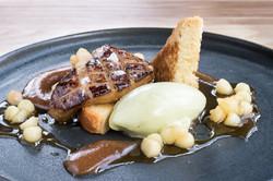 Seared Foie Gras, apple, brioche