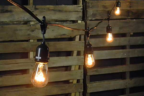 black edison bulb light strings impressions weddings event