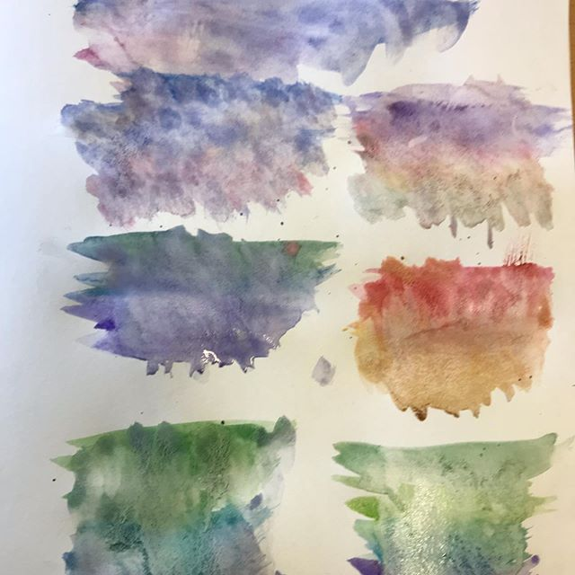 Exploring colour washes with our water c