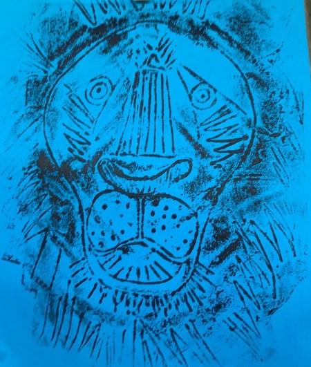 Children's art club Dulwich printing