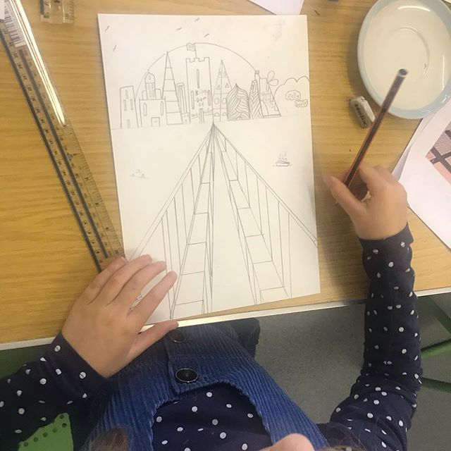 one point perspective drawings using ver