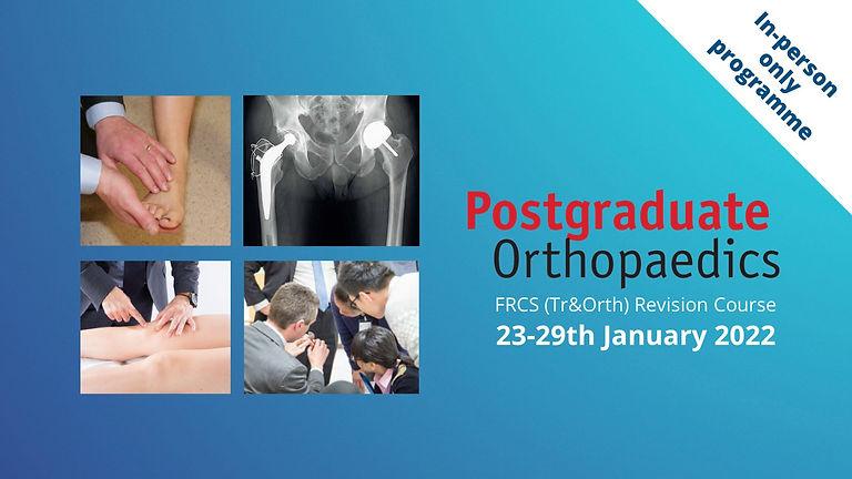 Eight Postgraduate Orthoapedic FRCS (Tr & Ortho) Revision Course