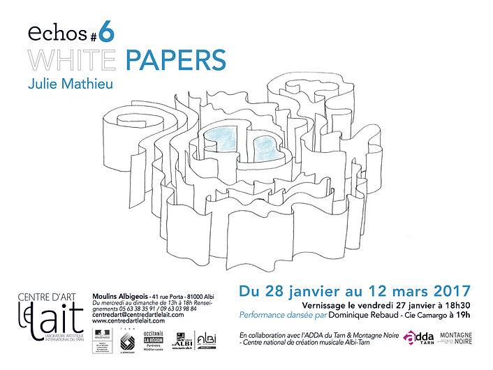 White papers-Julie Mathieu Centre d'art Le LAIT