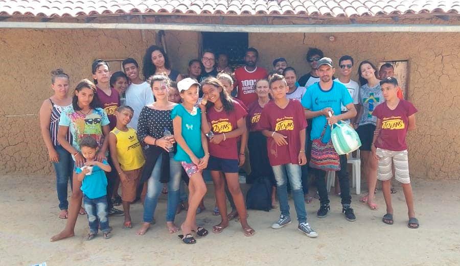 Grupo de missionários do N10 e do Jatobá que estiveram em Vila Matias