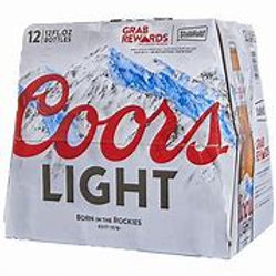 Coors Light 12 pk Bottles