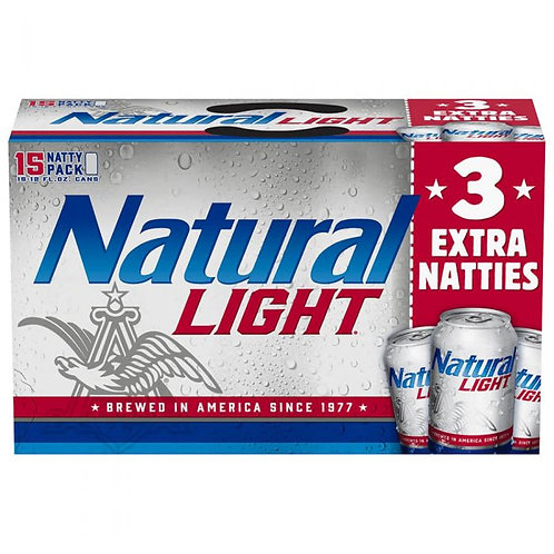 Natural Light 15 pk Cans