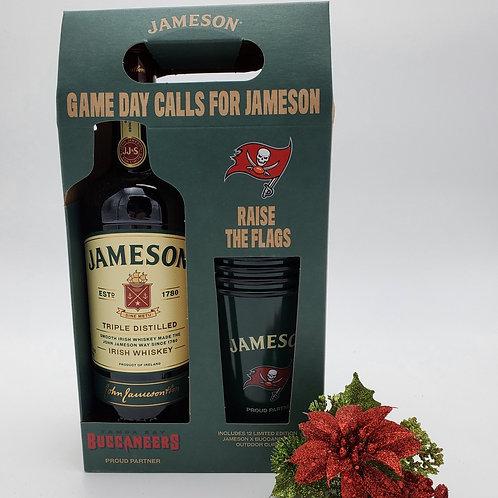 JAMESON IRISH WHISKEY 750 ML W/ 12 LTD ED JAMESON X BUCCANEERS OUTDOOR CU