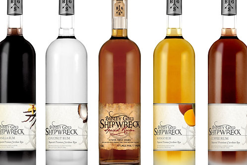 SHIPWRECK RUMS -Coconut, Gold, Vanilla, Spiced, & Mango