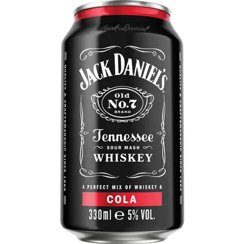 Jack Daniels Can Cocktails-Whiskey & Cola
