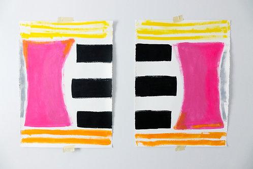 Twinning in Pink by Kelly Seeber