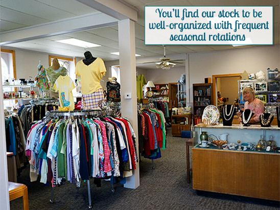 Our stock is well organized with frequent seasonal rotations