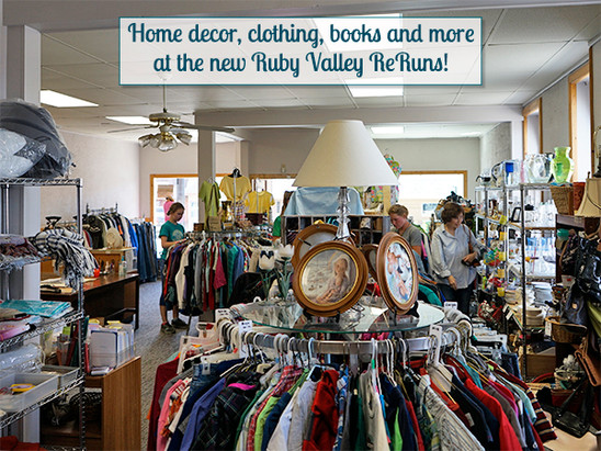 Home decor, clothing, books & more at Ruby Valley ReRuns!