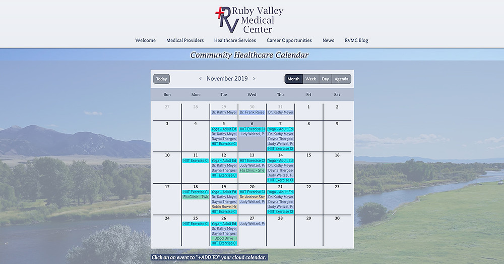 Community Healthcare Calendar