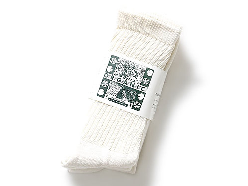 """CREAM"" 3PACK ORGANIC REGURAR CREW SOCKS"