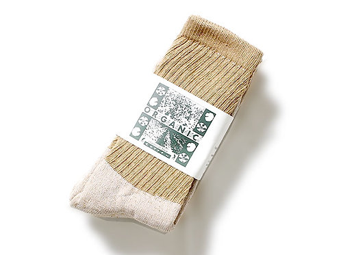 """BROWN"" 3PACK ORGANIC REGURAR CREW SOCKS"