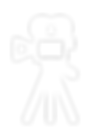 Movie Camera Clip Art 2 White with Alpha