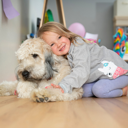 Little Girl and her Furry Bestie