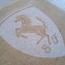 Targhetta marmo logo Ferrari