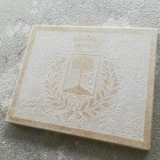 Targhetta stemma Comune di Coreno Ausonio