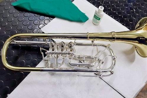 Ultrasonidos trompeta, Limpieza y mantenimiento