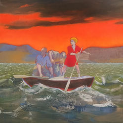 women in charge of a small boat
