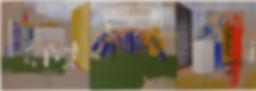 eddington's view of Italy, three painted panels