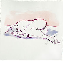 women sleeping drawing