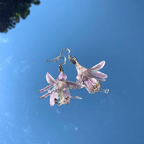 Lilac Hosta Earrings