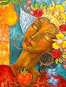 jeune femme fleur