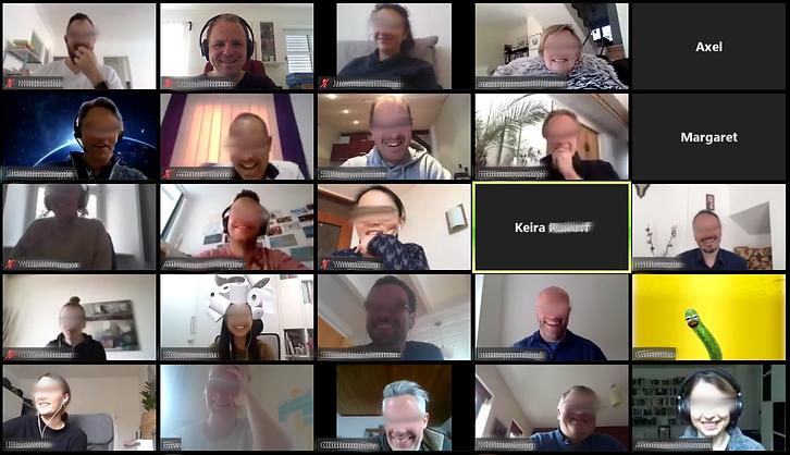 Zoom-Meeting mit vielen Teilnehmern