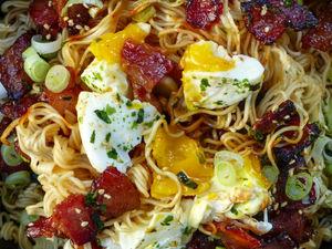 Bacon Egg Mazemen Noodles