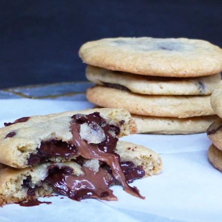Rolo Stuffed Chocolate Chip Cookies
