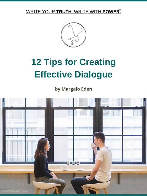 FREE! - 12 Tips for Creating Effective Dialogue