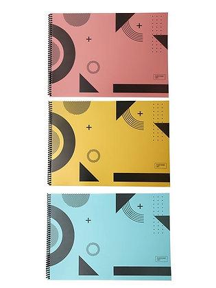Papeterie Art Resim Defteri 25x35 cm. PP Kapak 48'li Asorti Paket