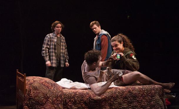 Ari+Shapiro,+Yaron+Lotan,+Austin+Blunk.+and+Sara+Turner+in+Wondrous+Strange,+Actors+Theatr