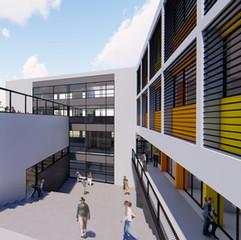 Hilmi Shafi High-School Lab Wing - Akko