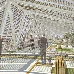 Ariel Sharon Park Pedestrian Bridge