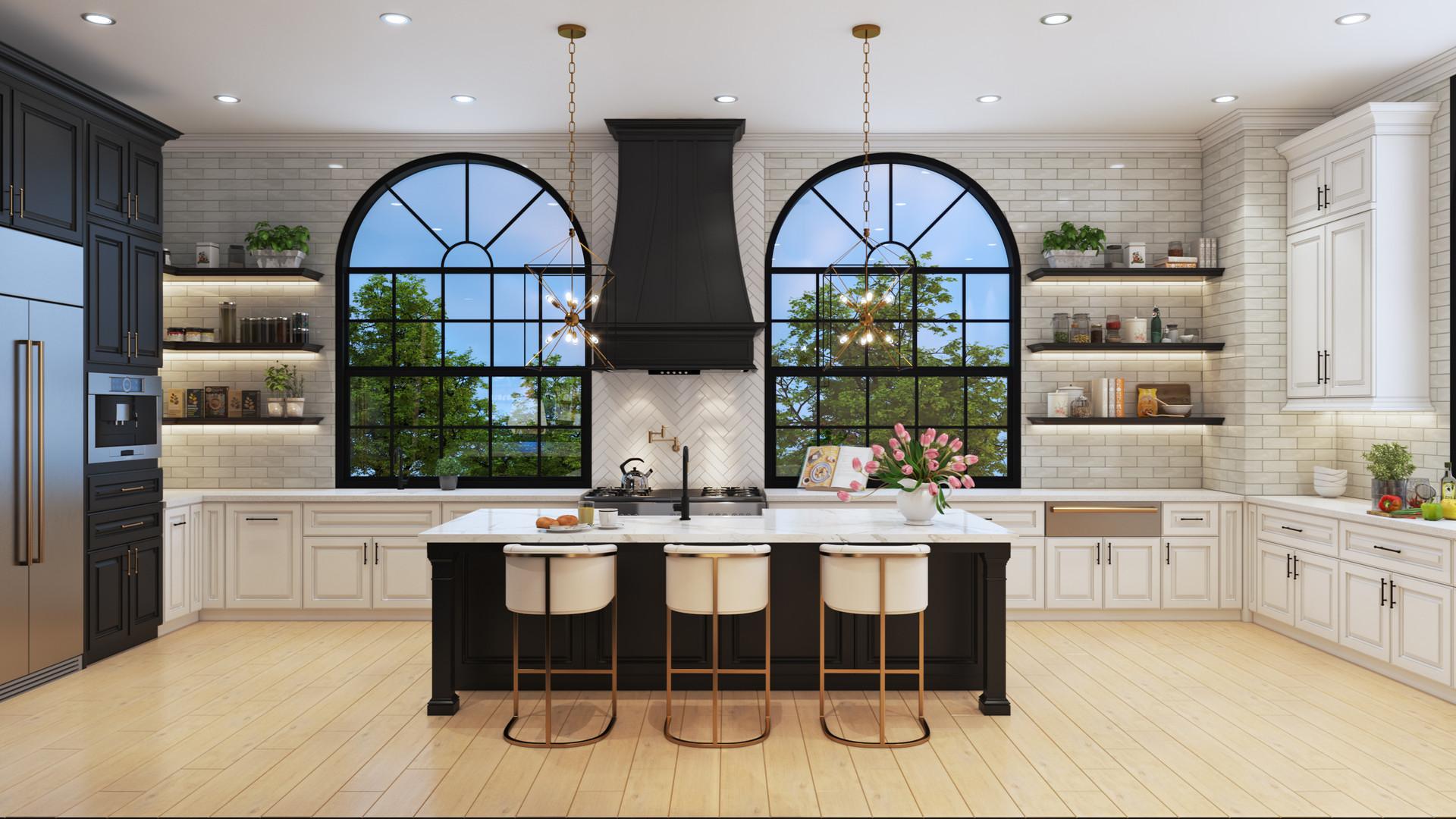 Kitchen View - One