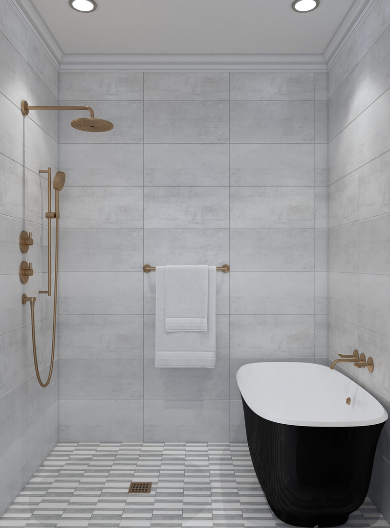 Wet Room Spa Baths with upgraded tile and luxurious hardware