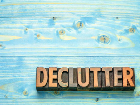 January - a great time to reflect and declutter