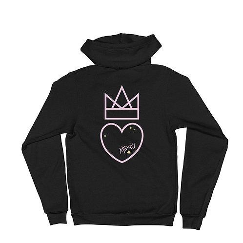 Heart and Crown Hoodie Zip Sweatshirt