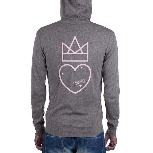 Heart and Crown Unisex zip hoodie