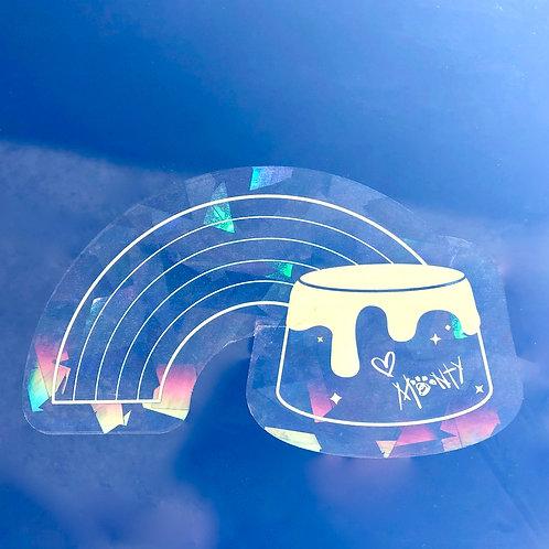 Rainbow Pudding Window Sticker