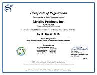 IATF 16949 Certificate 0329222 05-SEP-20