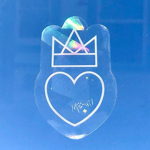 Rainbow Heart and Crown Window Sticker