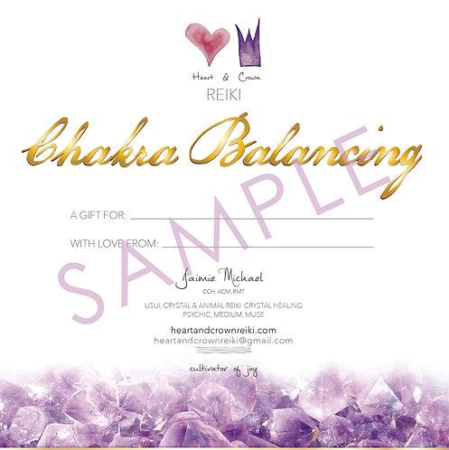 Chakra Balancing Gift Certificate